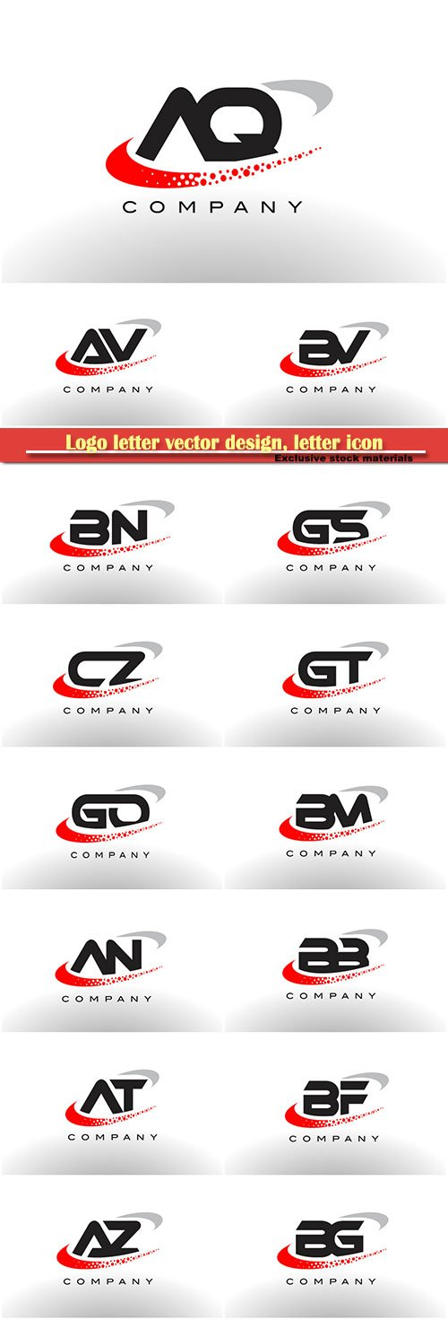 Logo letter vector design, letter icon # 2