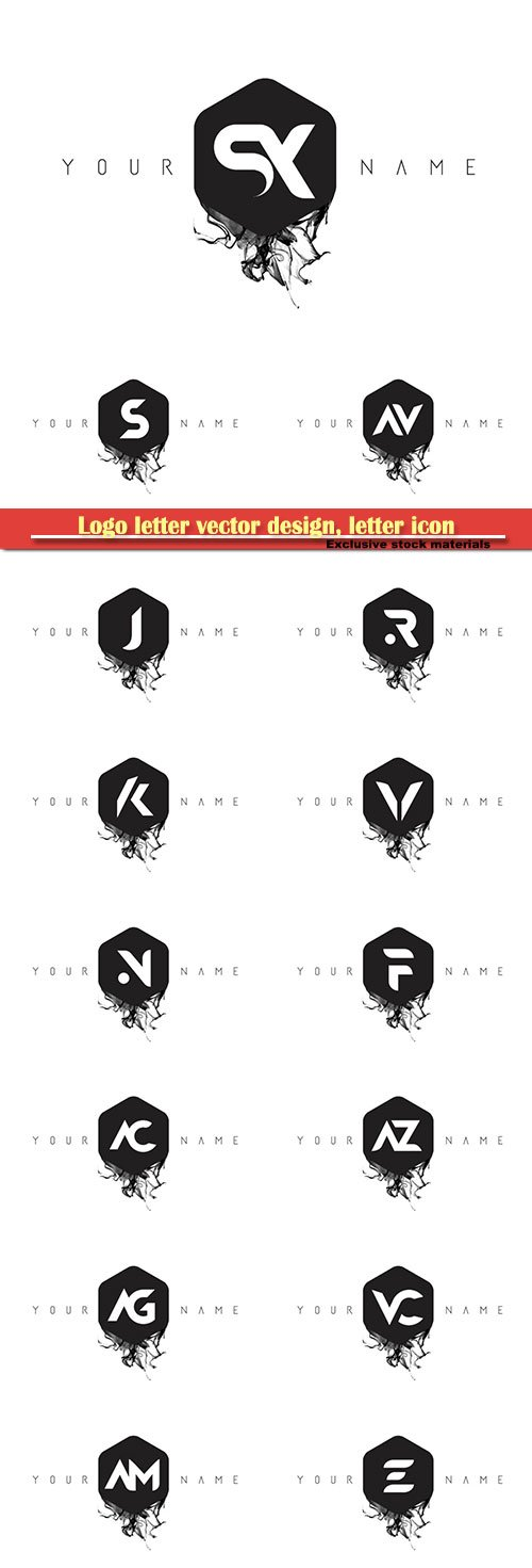 Logo letter vector design, letter icon # 3