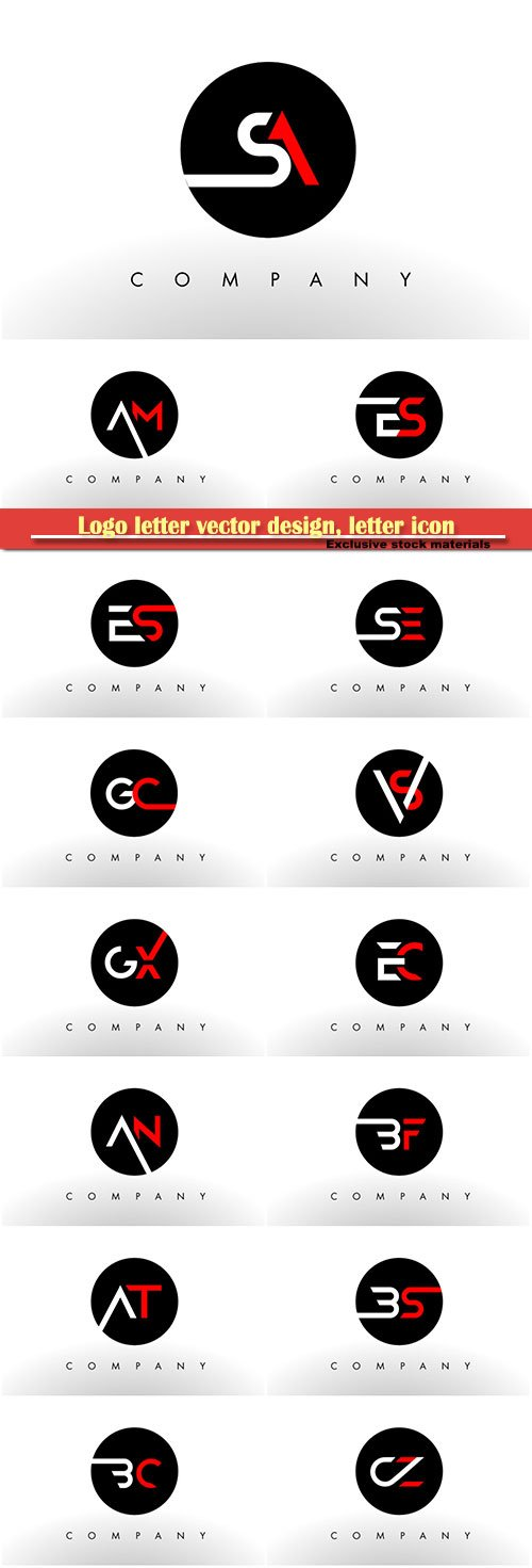Logo letter vector design, letter icon # 4