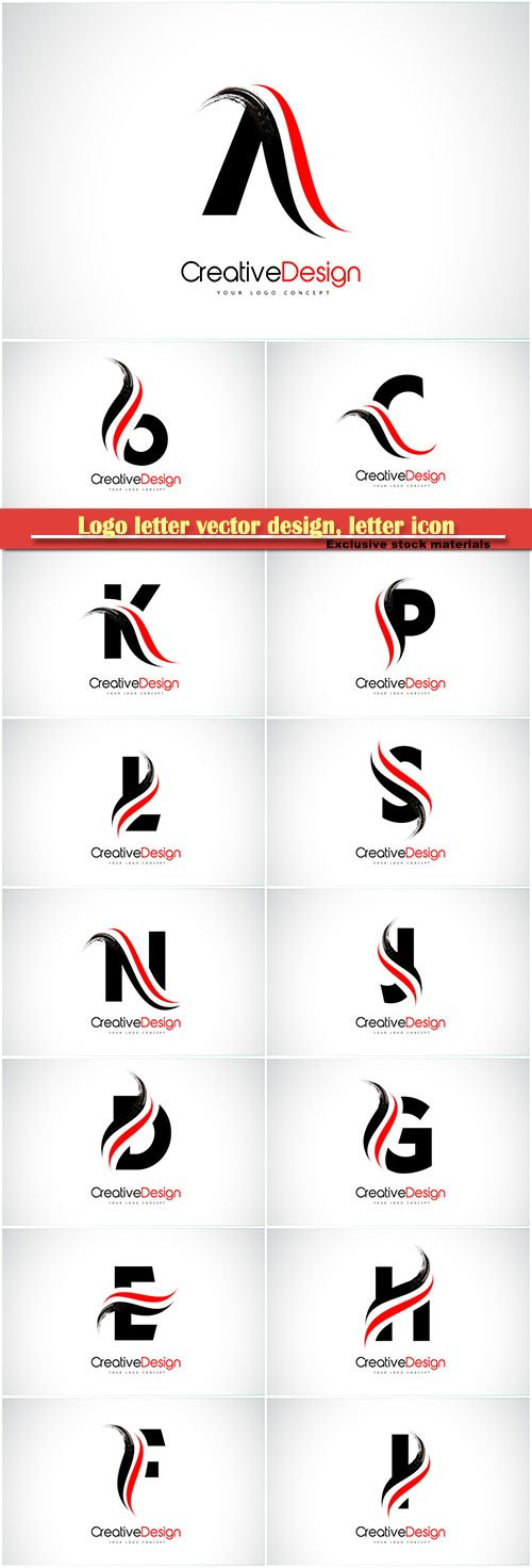 Logo letter vector design, letter icon # 6