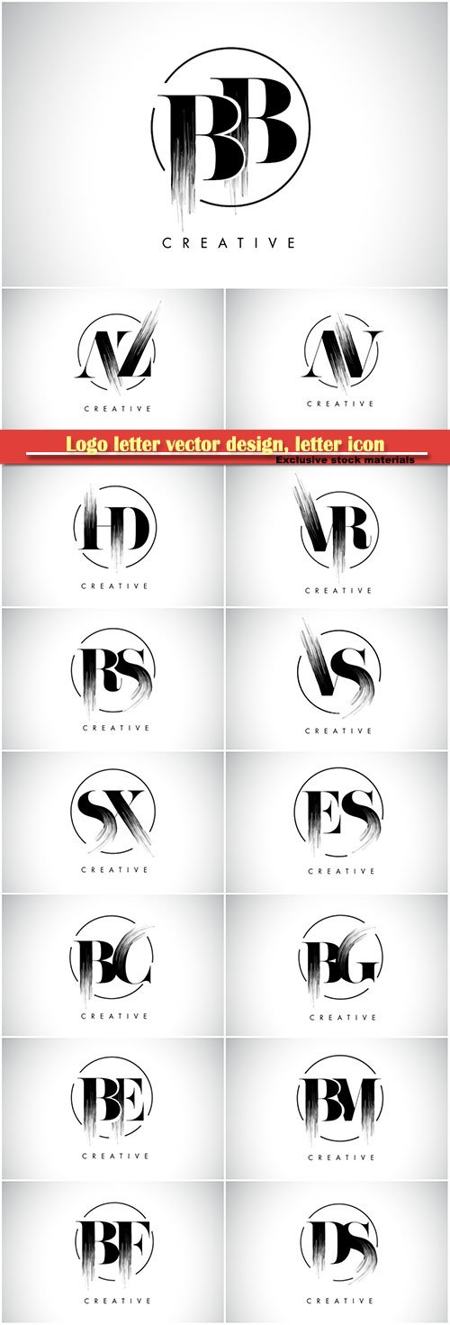 Logo letter vector design, letter icon # 10