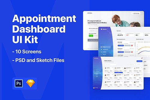 Appointment Dashboard UI Kit