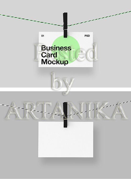 Hanging Business Card Mockup