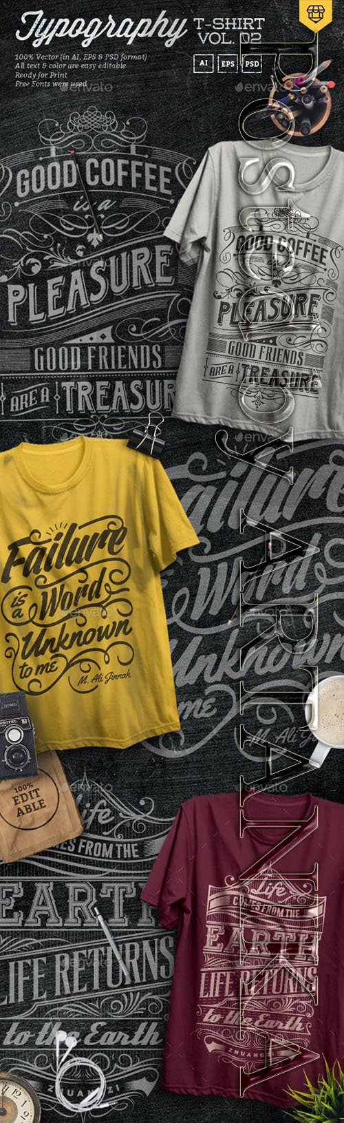 3 Quote Typography T-Shirts Vol.02 19295960