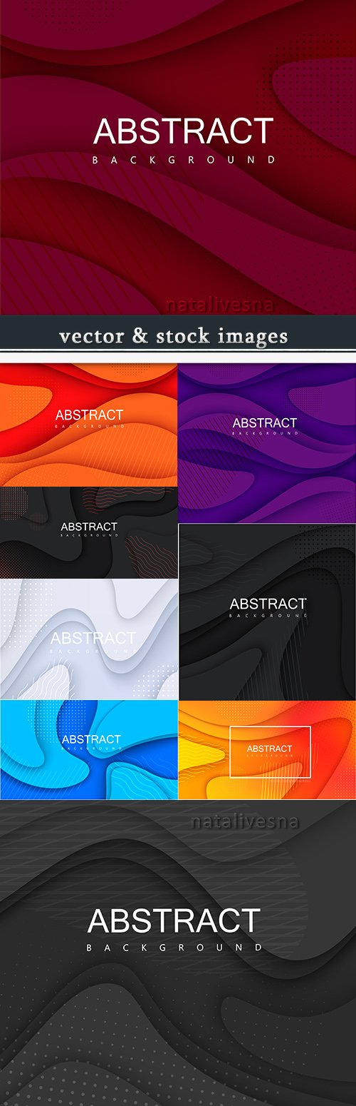 Abstract wave gradient geometrical design background