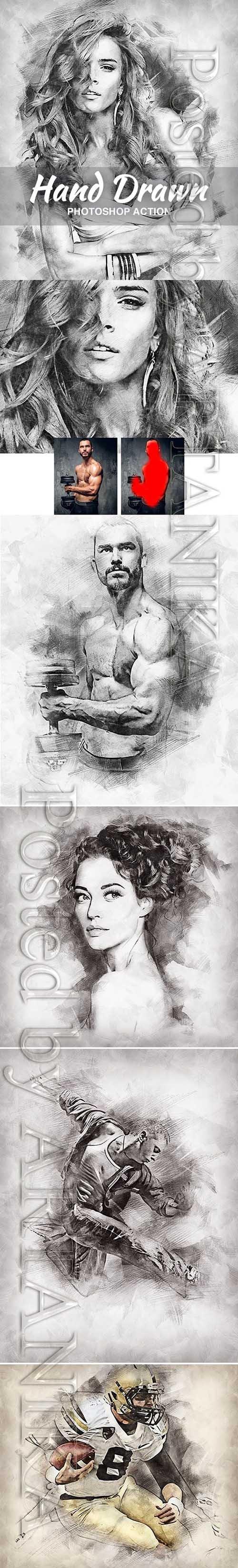 Hand Drawn Photoshop Action 21151344
