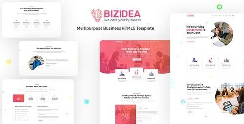 ThemeForest - Bizidea v1.0 - Multipurpose Business HTML5 Template - 23815681