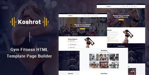 ThemeForest - Koshrot v1.0 - Gym Fitness HTML Template with Page Builder - 23799396