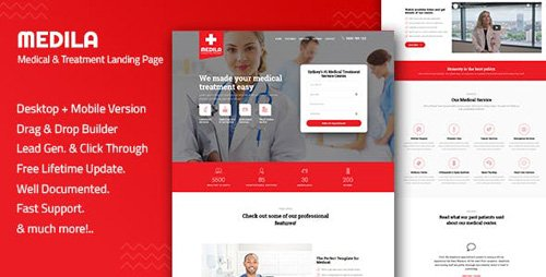 ThemeForest - Medila - Medical Treatment & Health Care Landing Page Template (Update: 16 February 19) - 23028722