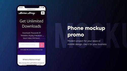 MA - Mobile Mockup Promo 226574