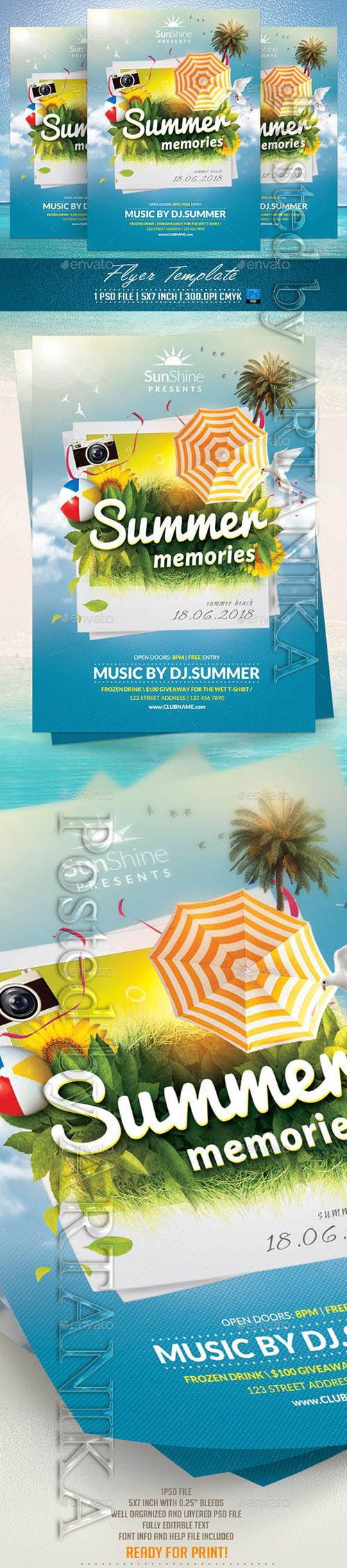 Summer Memories Flyer Template 11830756