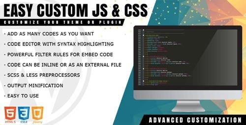 CodeCanyon - Easy Custom JS and CSS v1.1.1 - Extra Customization for WordPress - 22097427
