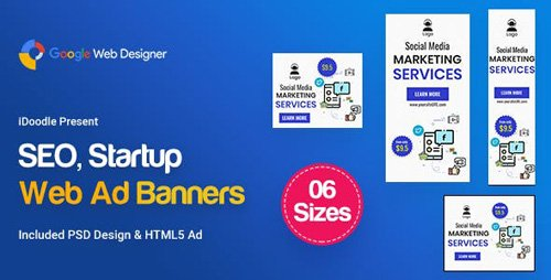 CodeCanyon - C05 - SEO, Startup Agency Banners GWD & PSD - 23750199