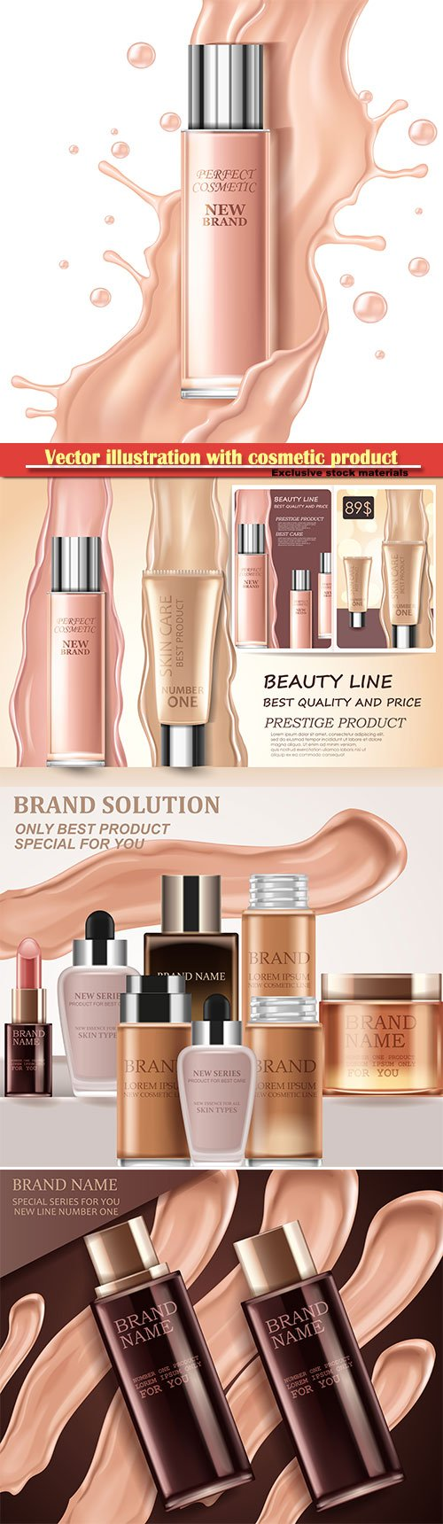 Vector illustration with cosmetic product