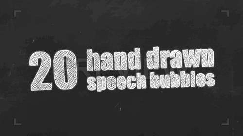 MA - 20 Hand-drawn Speech Bubbles 207970