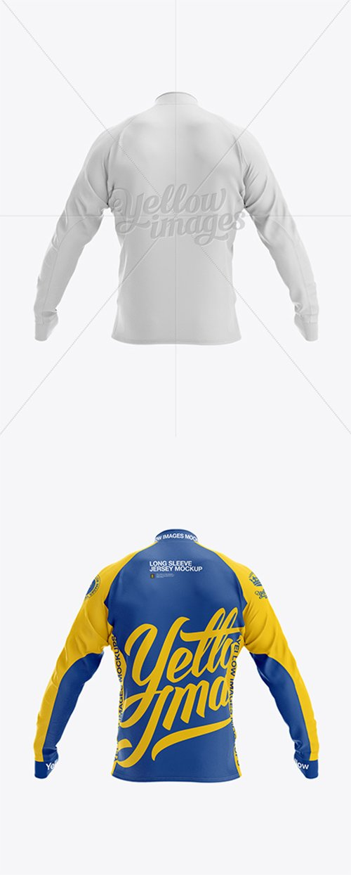 Long Sleeve Jersey Mockup - Back View 16679 TIF
