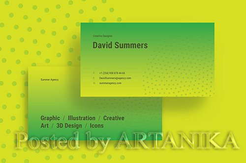Summer Creative Business Card