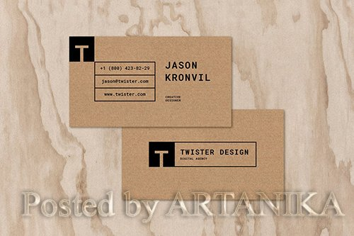 Twister Personal Business Card Template