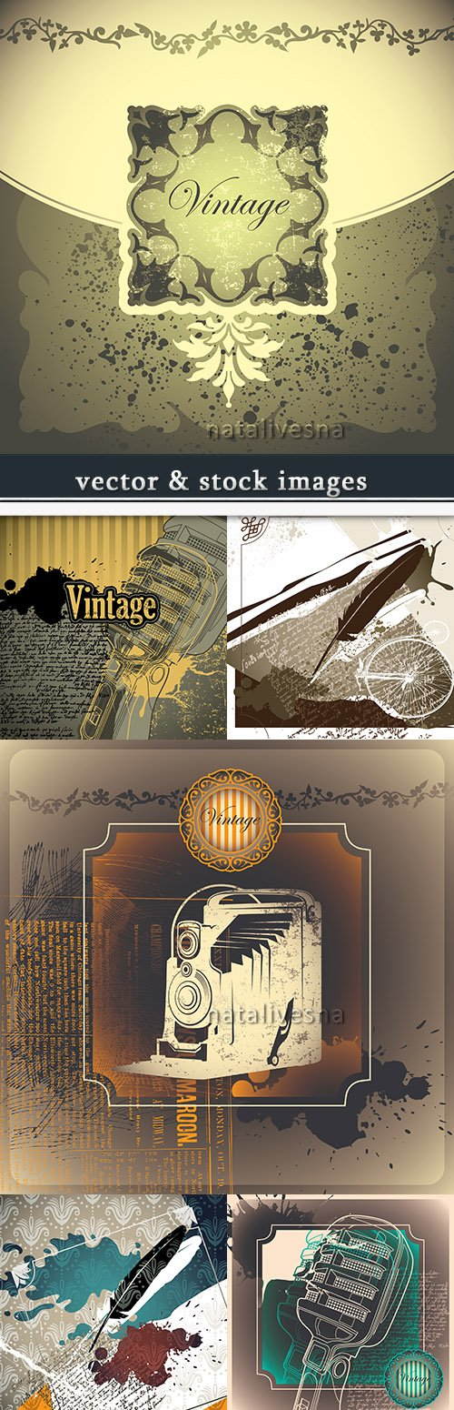 Vintage nostalgia decorative design abstract background