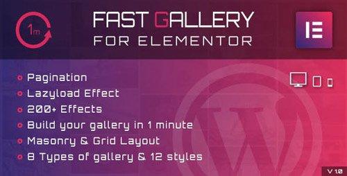 CodeCanyon - Fast Gallery for Elementor WordPress Plugin v1.0 - 23853601