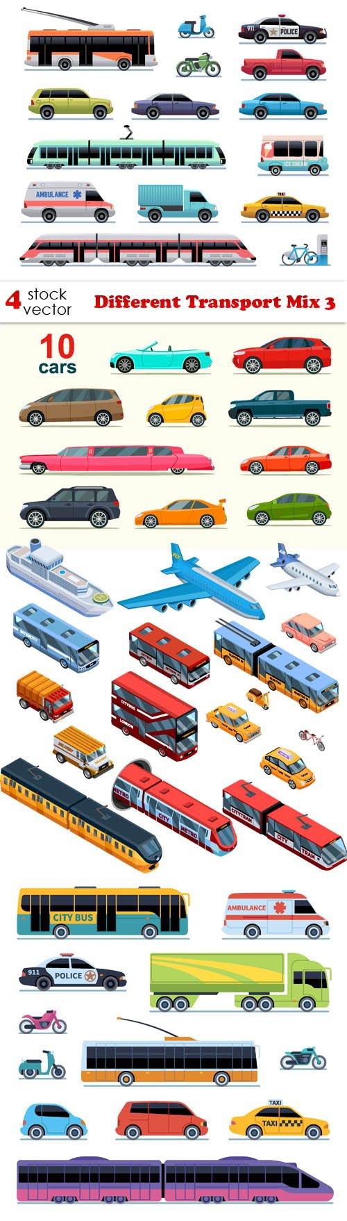 Vectors - Different Transport Mix 3