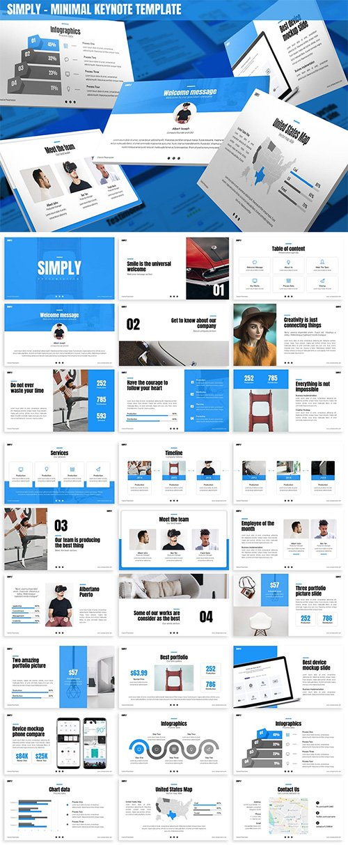 Simply - Minimal Keynote Template
