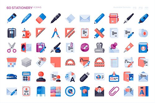 60 Stationery Icons