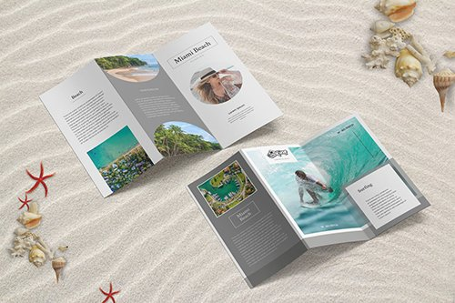 Summer Beach Trifold Brochure INDD