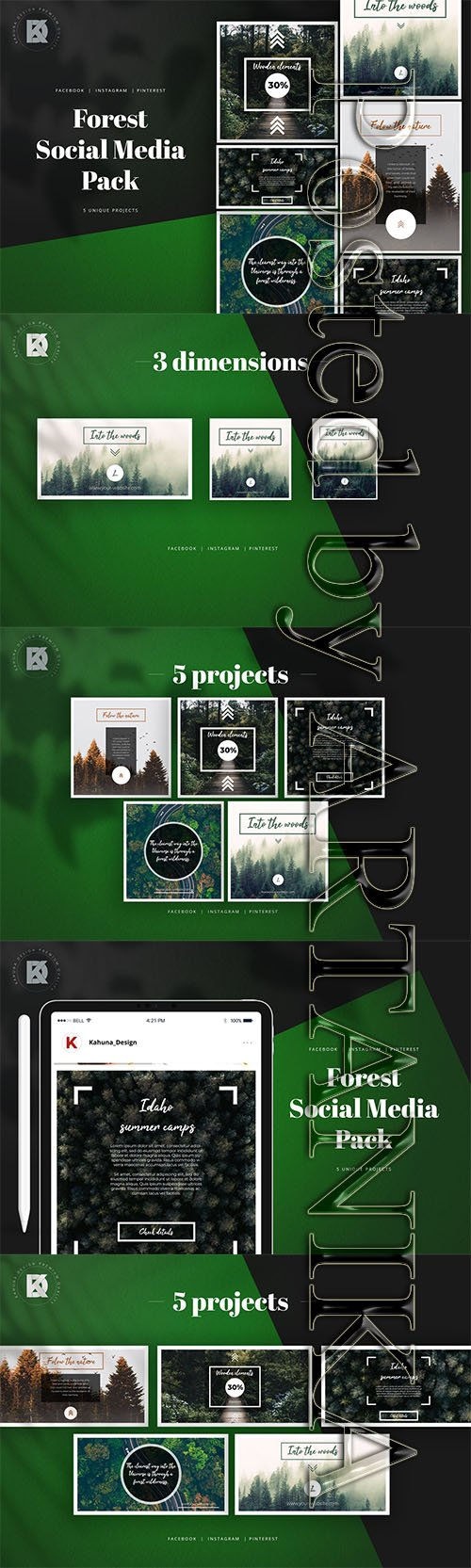 Forest Social Media Pack Template