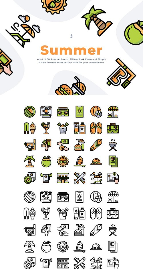 30 Summer Time Icon set