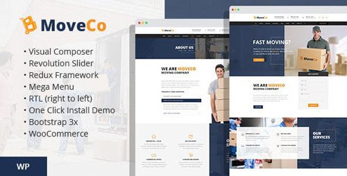 ThemeForest - MoveCo v1.4 - Logistics, Moving Company WordPress Theme - 17955886