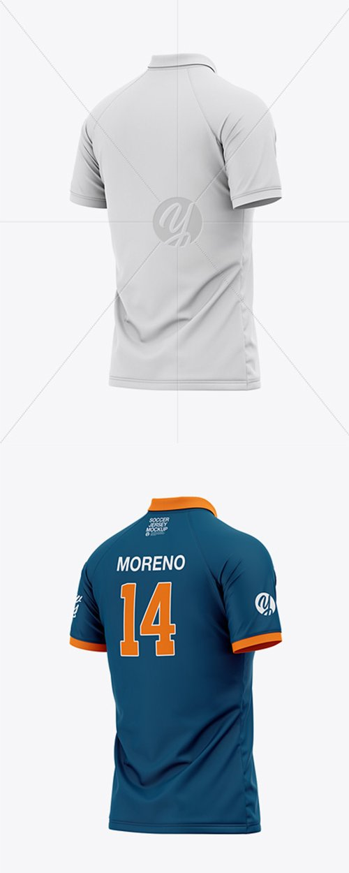 Men's Soccer Jersey Mockup - Back Half Side View 42361 TIF