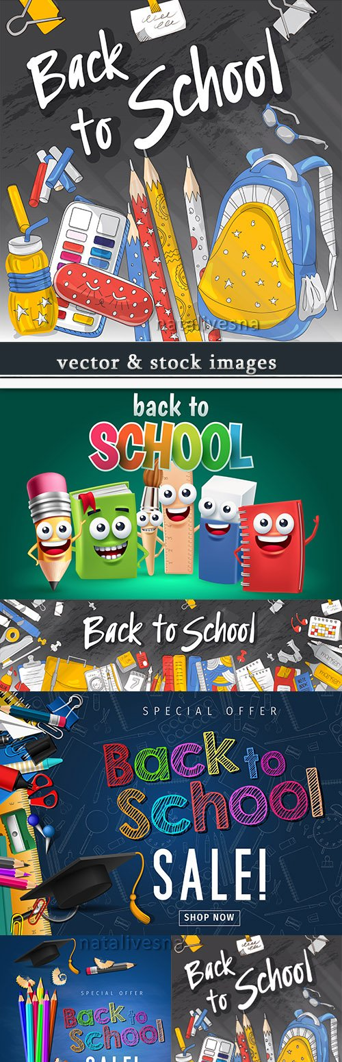 Back to school and accessories element illustration 18