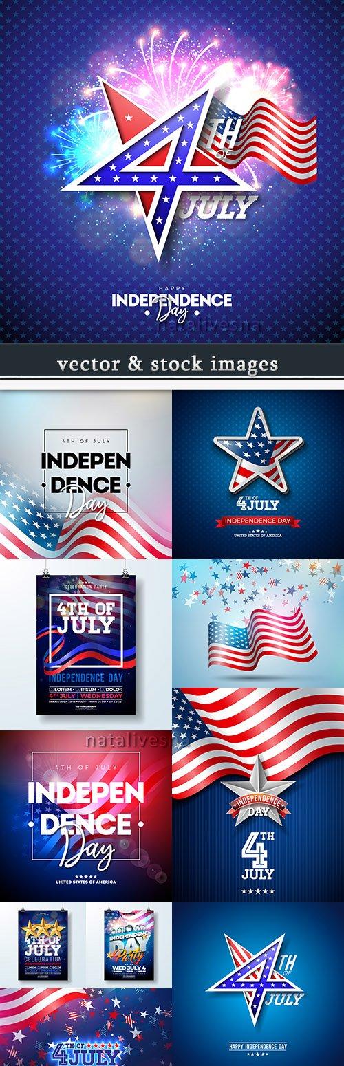 Independence Day USA illustration vector design 3