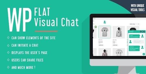 CodeCanyon - WP Flat Visual Chat v5.384 - Live Chat & Remote View for Wordpress - 8329900
