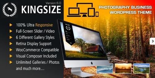 ThemeForest - KingSize v6.0 - Fullscreen Photography Theme - 166299