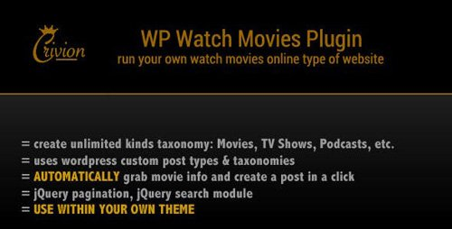 CodeCanyon - WP Watch Movies & TV Shows Online v1.6 - 7265723