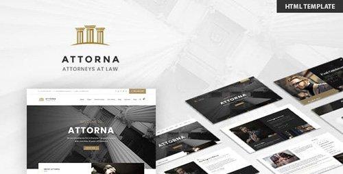 ThemeForest - Attorna v1.0 - Lawyer & Attorney HTML Template - 23686422