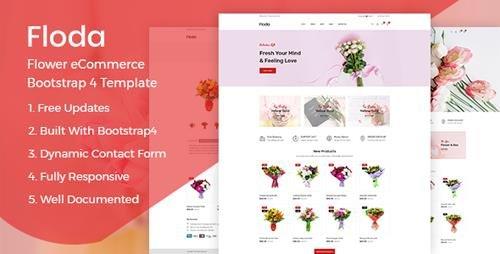 ThemeForest - Floda v1.0 - Flower Shop HTML Template - 23720813