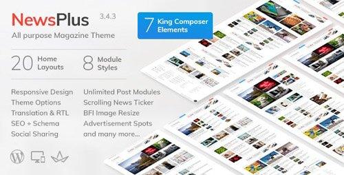 ThemeForest - NewsPlus v3.4.3 - News and Magazine WordPress theme - 4208250
