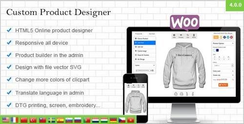 CodeCanyon - WooCommerce Custom Product Designer v4.4.1 - 10959830