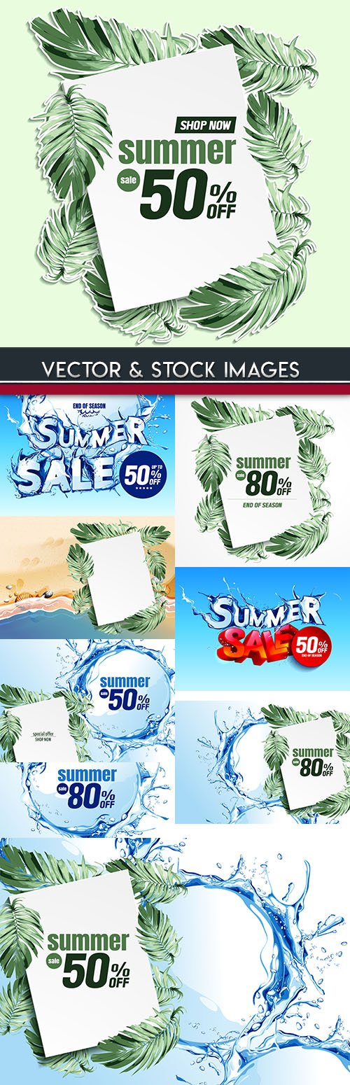 Summer sales special and discount holiday brochure 8