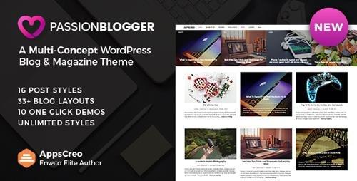 ThemeForest - Passion Blogger v1.6 - A Responsive WordPress Theme - 20106688