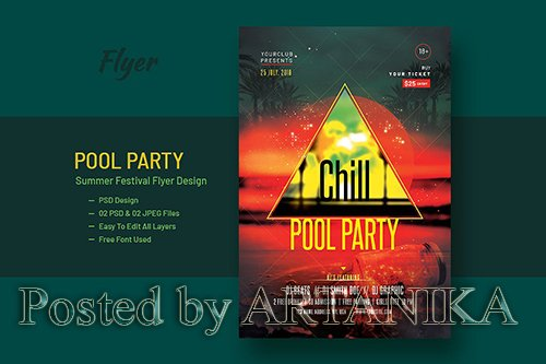 Pool Party and Summer Festival Flyer V-6