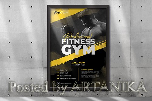 Gym and Fitness Poster Template