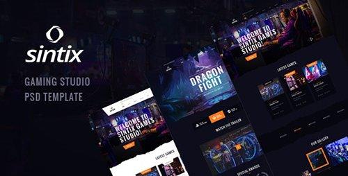 Sintix - Gaming Studio PSD Template 23888983