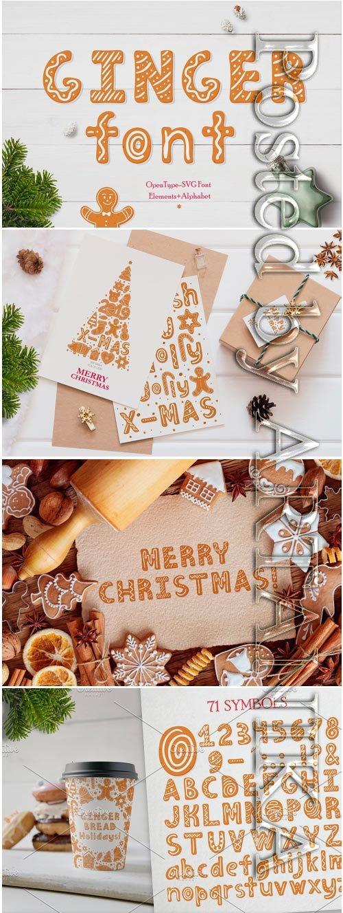 Gingerbread Christmas SVG Font 3061151