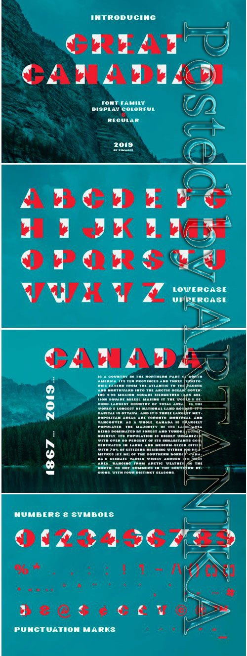 Great Canadian Display Font Family