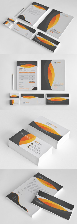 Stationery Set with Orange Accen 242884150