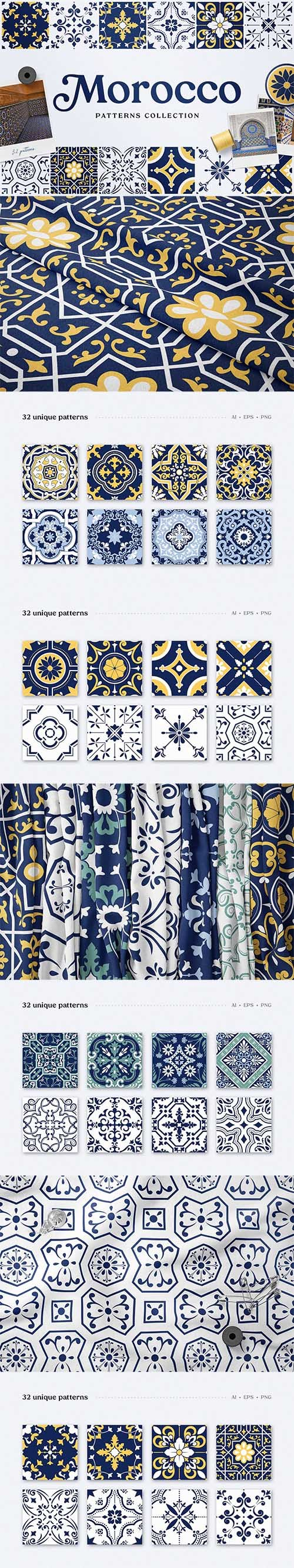 Vector Moroccan Patterns and Ornaments